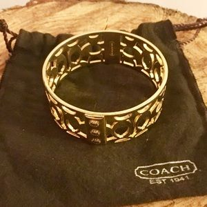 Authentic Gold Coach bangle, excellent condition